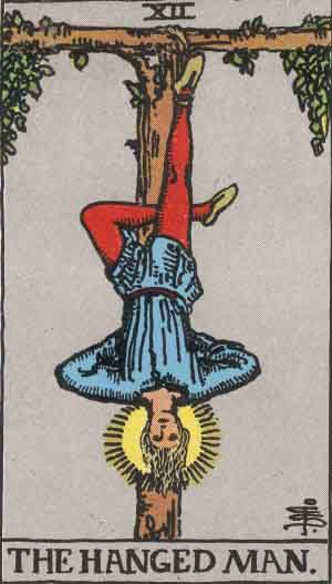 You are currently viewing The Hanged Man – Tarot Love